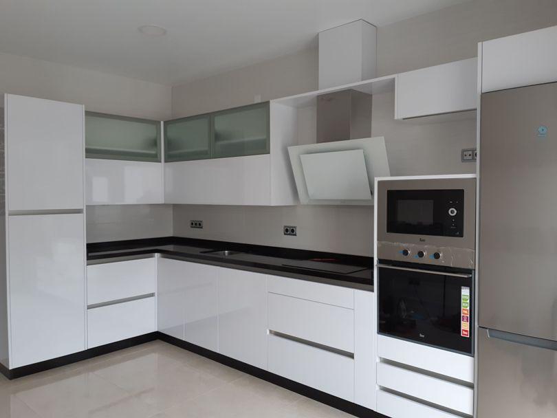 fotos de cocina blanca Cocina Blanca A Medida Estilo Italiano Muebles Rincon